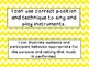 Second Grade I Can Statements -- NC Music -- Yellow Chevron