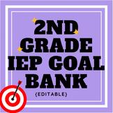 Second Grade IEP Goal Bank {editable}