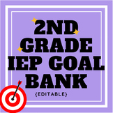 Second Grade IEP Goal Bank {editable}