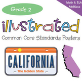 Common Core Standards I Can Statements for 2nd Grade - California