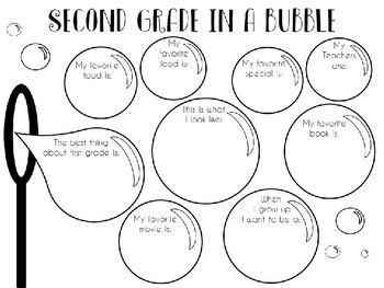 Second Grade In A Bubble - End of Year Reflection Activity