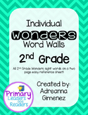 Second Grade Individual Wonders Word Walls
