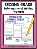 Second Grade Informational Writing Prompts For Differentiation