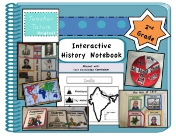 Second Grade Interactive History Notebook: Core Knowledge