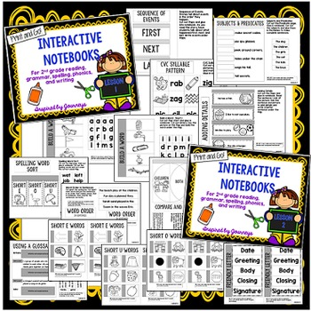 Second Grade Interactive Notebooks Unit 1 {5 SETS}