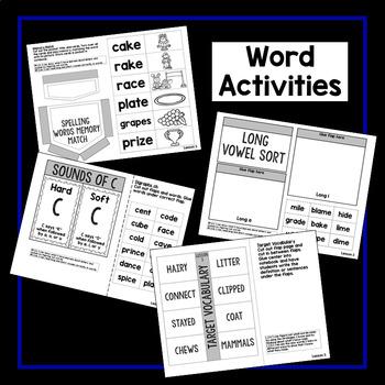 Second Grade Interactive Notebook Week 3: Long Vowels,Author's Purpose,Sentences