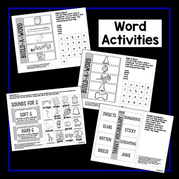 Second Grade Interactive Notebook Week 4: Cause and Effect, Long Vowels, Nouns