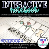 Second Grade Interactive Notebook 4: Cause and Effect, Long Vowels, Nouns