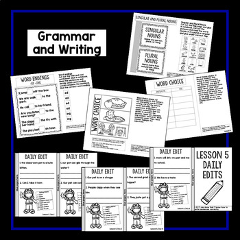 Second Grade Interactive Notebook Week 5: Story Structure, Long Vowels, Nouns