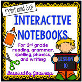 Second Grade Interactive Notebook Week 10: Fact and Opinion, Contractions, Verbs