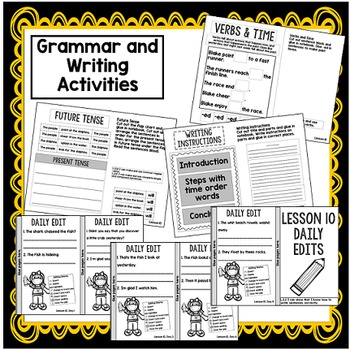 Second Grade Interactive Notebook: Fact and Opinion, Contractions, Verbs
