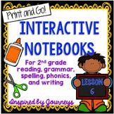 Second Grade Interactive Notebook Week 6:Text features,Plural Nouns,Final Blends
