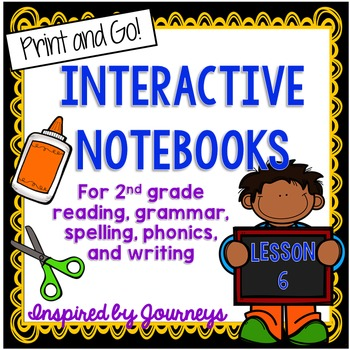 Second Grade Interactive Notebook Week 6:Text features,Plural Nouns,Final Blends