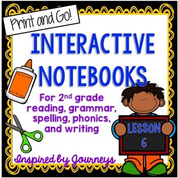Second Grade Interactive Notebook Week 6:Text features,Plu