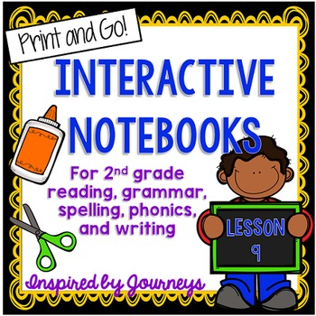 Second Grade Interactive Notebook Week 9: Characters, Synonyms, Base Words