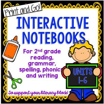 Second Grade Interactive Notebook {30 SETS}