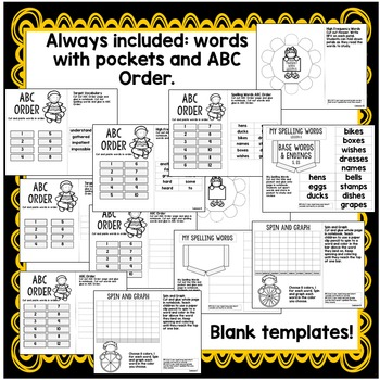 Second Grade Interactive Notebook Week 11: Conclusions,Base Words,Prefixes