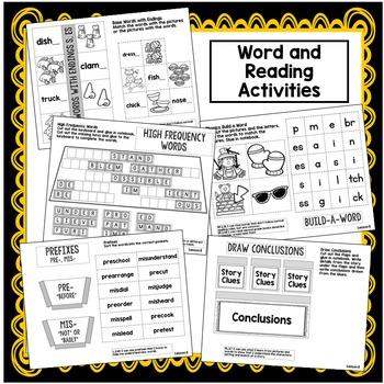 Conclusions,Base Words,Prefixes Interactive Notebook