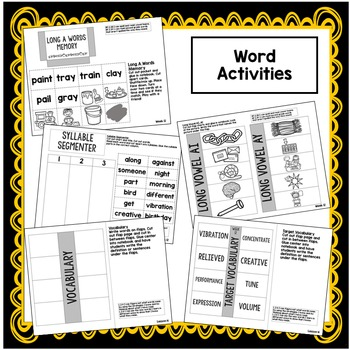 Second Grade Interactive Notebook Week 12: Long A Words, Idioms, Text Features