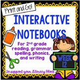 Long A Words, Idioms, Text Features Interactive Notebook