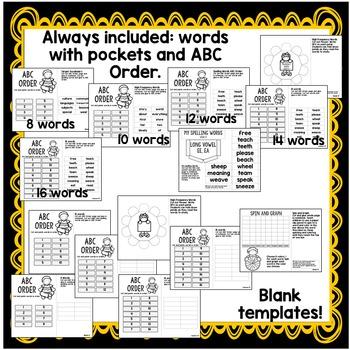Second Grade Interactive Notebook Week 13:Long E Words,Main Idea,Quotation Marks