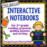 Second Grade Interactive Notebooks Unit 3 {5 WEEKS} Reading, Spelling, Grammar
