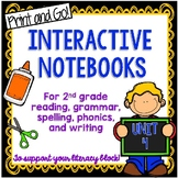 Second Grade Interactive Notebooks Unit 4 {5 WEEKS} Reading, Spelling, Grammar