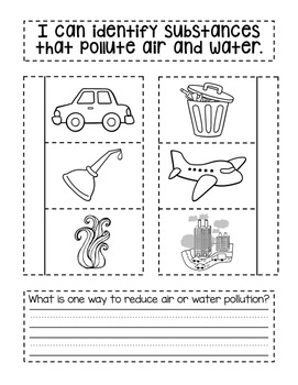 Second Grade Interactive Science Journal: Air & Water {Editable}