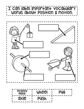 Second Grade Interactive Science Journal: Position and Motion {Editable}