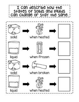Second Grade Interactive Science Journal: Solids, Liquids, and Gases {Editable}