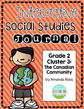 Second Grade Interactive Social Studies Journal - Bundle {Editable}