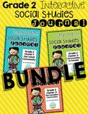 Second Grade Interactive Social Studies Journal - Bundle {Editable}