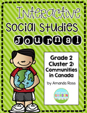 Second Grade Interactive Social Studies Journal - Cluster 2 {Editable}