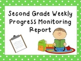 Second Grade Intervention Progress Monitoring Data Sheet/ Report