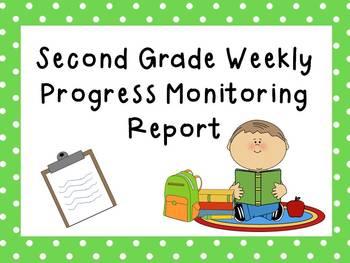 Second Grade Intervention Progress Monitoring Data Sheet/ Report