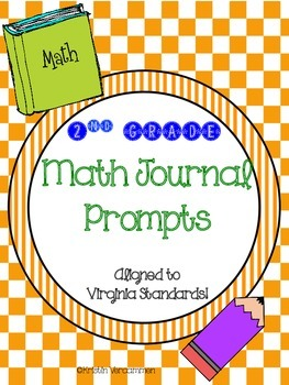Second Grade Math Journal Prompts - Aligned to Virginia Standards