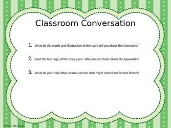Second Grade Journey's Lesson 11: Click, Clack, Moo