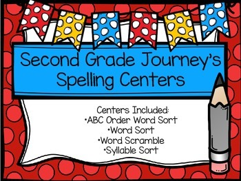 Second Grade Journey's Spelling Centers - Officer Buckle and Gloria