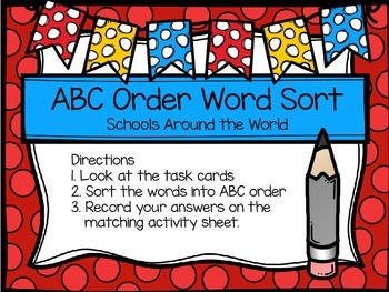 Second Grade Journey's Spelling Centers - Schools Around the World
