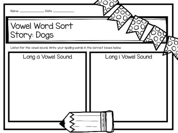 Second Grade Journey's Spelling Centers and Activities - Dogs