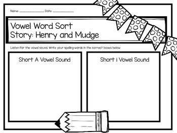 Second Grade Journey's Spelling Centers and Activities - Henry and Mudge