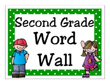 Second Grade Journeys 2014 High Frequency Word Wall (Green Polka Dot)