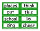 Second Grade Journeys 2014 High Frequency Word Wall (Green