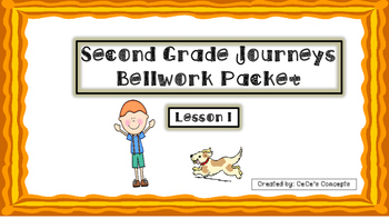 2nd Gr. Journeys BELLWORK Packet Lesson 1- Henry and Mudge