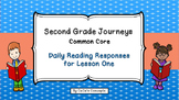 2nd Gr. Journeys DAILY READING RESPONSE Lesson 1- Henry and Mudge
