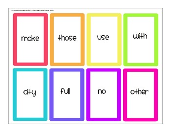 Second Grade Journeys High Frequency Word Games (Lessons 1-3)