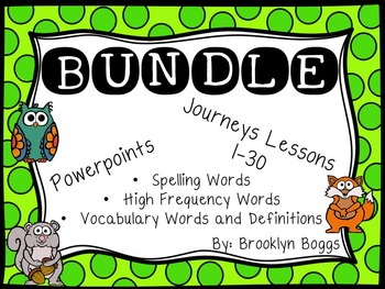 Second Grade Journey's Powerpoints Bundled Stories 1-30