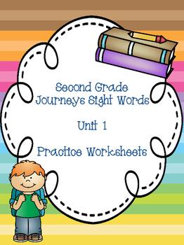 Second Grade Journeys Sight Words Unit 1