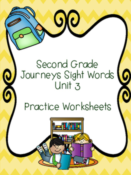 Second Grade Journeys Sight Words Unit 3
