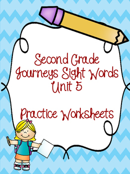 Second Grade Journeys Sight Words Unit 5